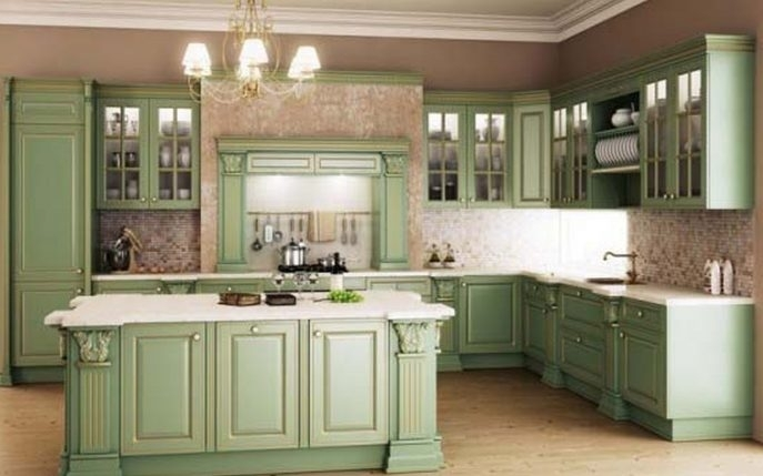 Sage Green Kitchen Cabinets Painted Lime Green Wall Decor Lime Pertaining To Wall Accents Cabinets (View 12 of 15)