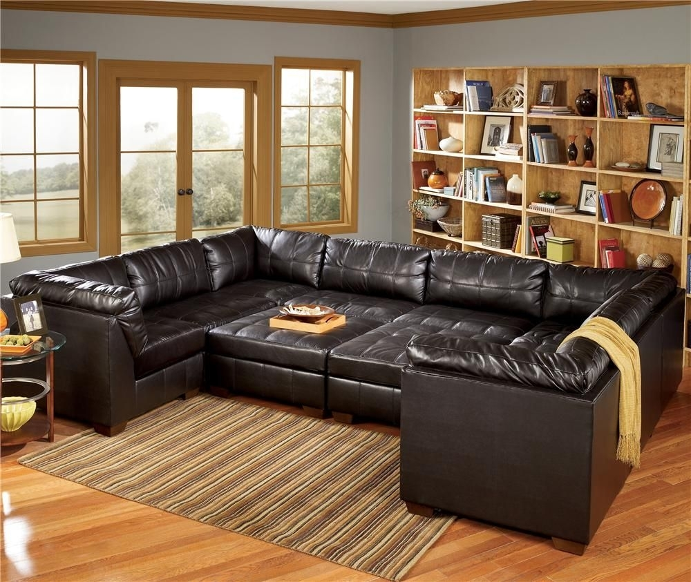 San Marco 10 Piece U Shaped Sectionalsignature Designashley Regarding Michigan Sectional Sofas (Image 6 of 10)