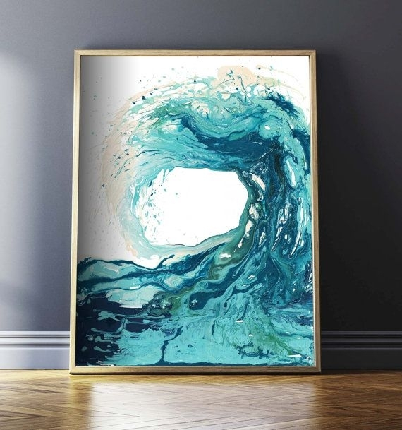 Sandbanks Wave I Print – This Is One Of My Favourite Prints And Within Abstract Nautical Wall Art (View 3 of 15)