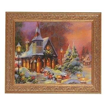 Santa Prints From Kirkland's | Christmas Church Framed Art Print With Regard To Christmas Framed Art Prints (Image 13 of 15)