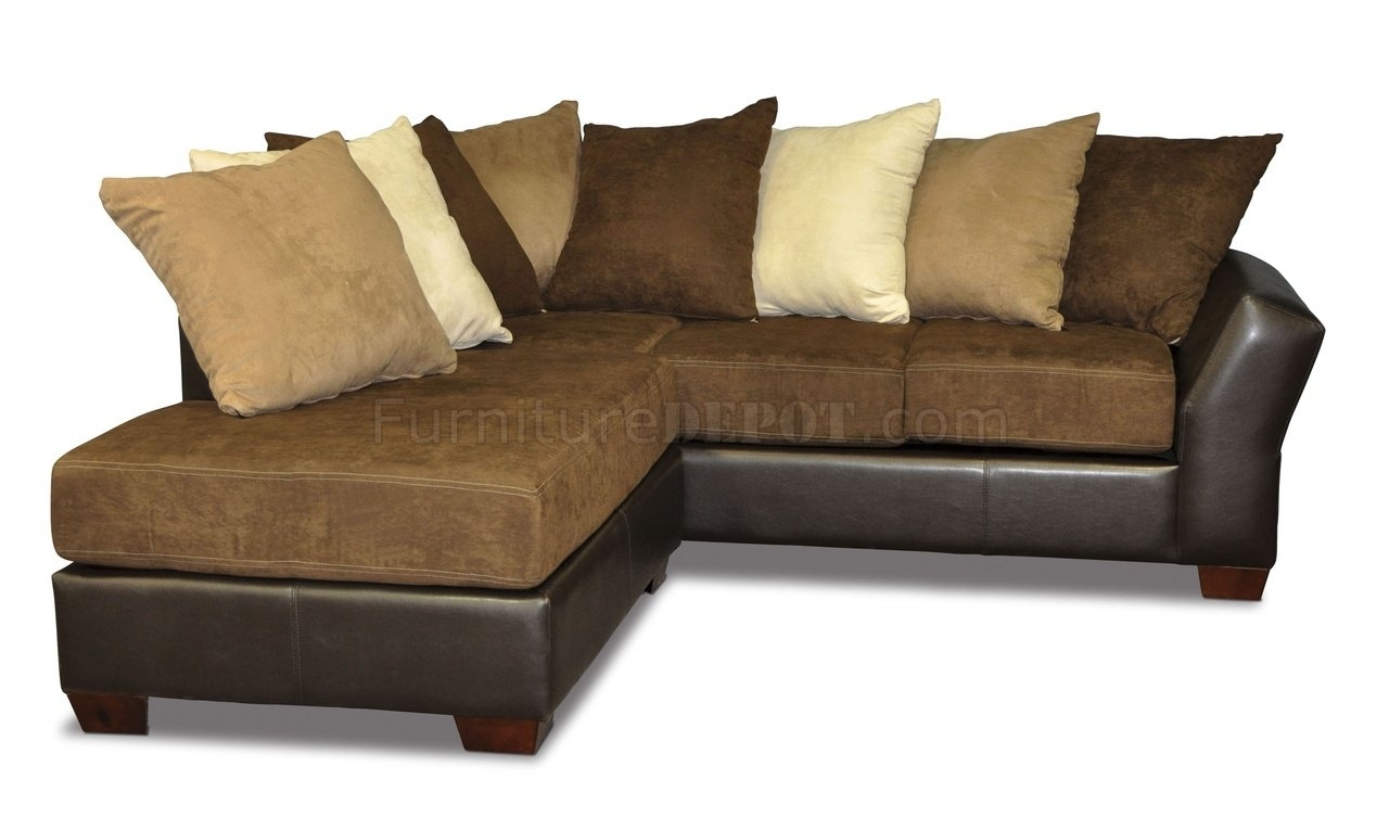 Scatter Back Modern Sectional Sofa Oversized Pillows – Homes Within Sofas With Oversized Pillows (Image 7 of 10)
