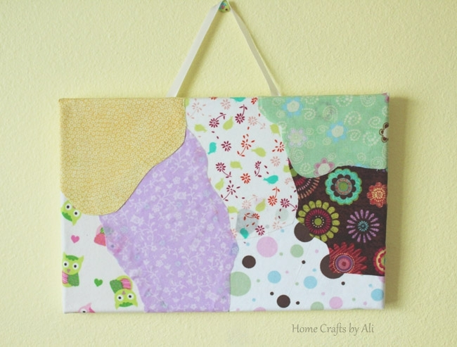 Scrap Fabric Wall Art – Home Craftsali With Regard To Mod Podge Fabric Wall Art (Image 10 of 15)