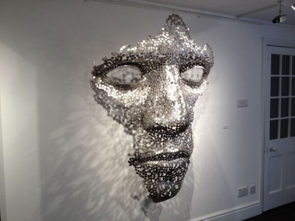 Sculpture: 'cloud Formation (Abstract Outsize Mans Face Sxculpture Pertaining To Kirby Abstract Wall Art (View 2 of 15)