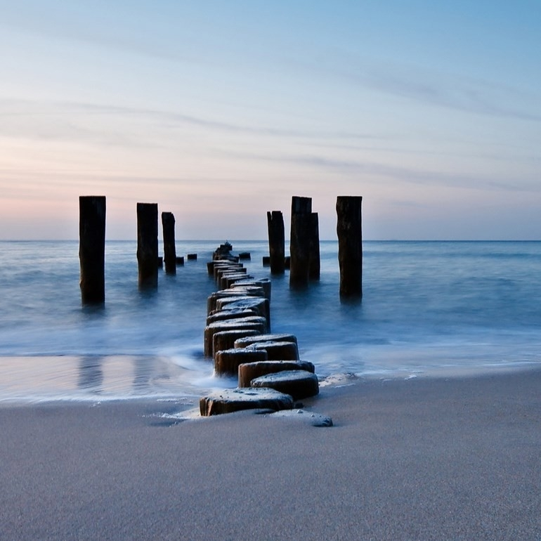 Seasccape Jaunt Broken Jetty Printed Canvas Wall Art Eluxury Home Pertaining To Jetty Canvas Wall Art (View 9 of 15)