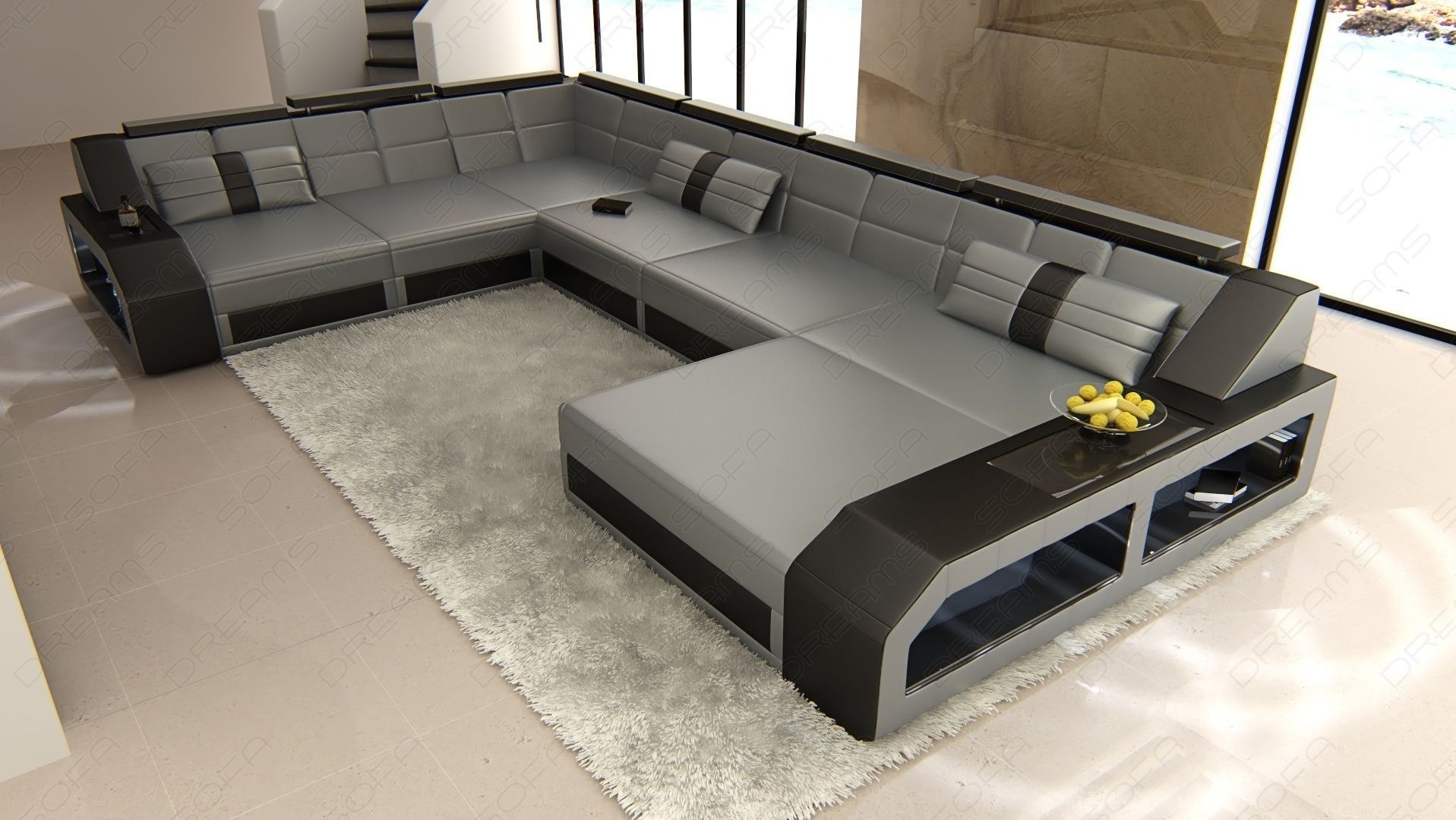 Sectional Leather Sofa Houston Xl With Houston Sectional Sofas (Image 9 of 10)