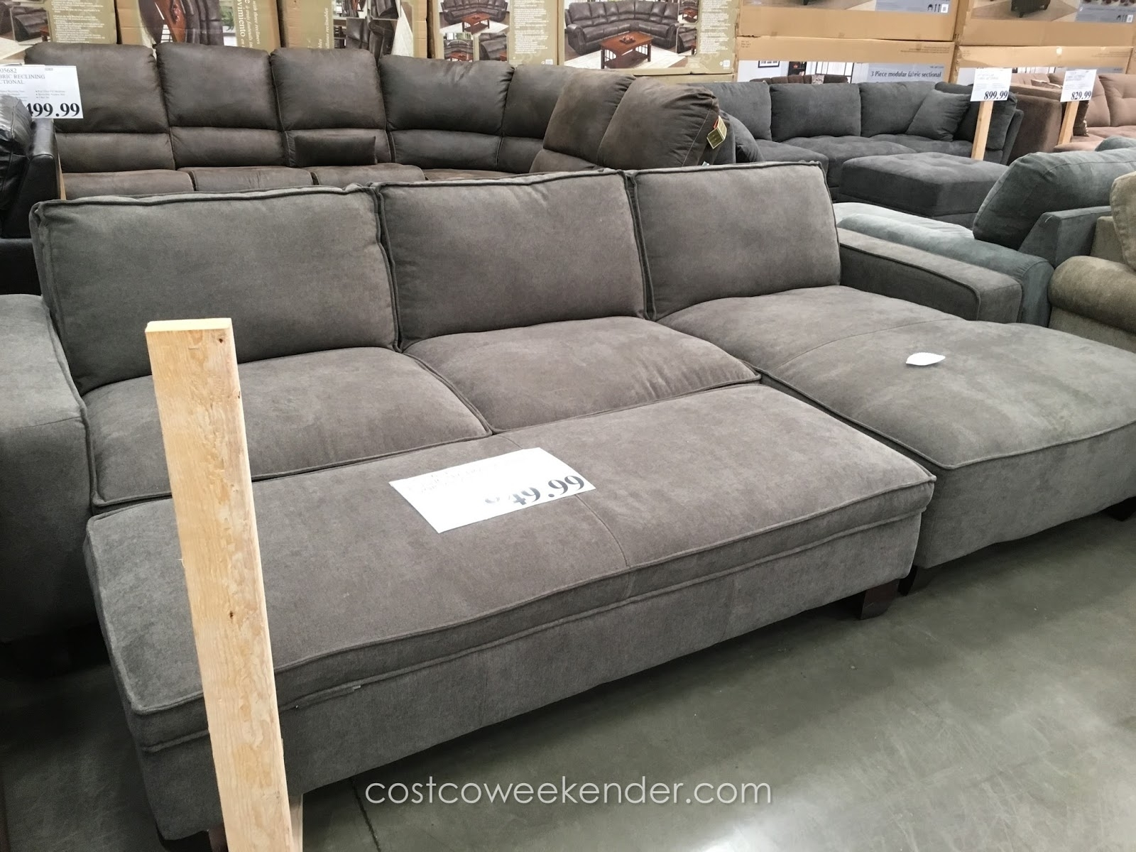 Sectional Ottoman | Tweetalk Pertaining To Sectionals With Chaise And Ottoman (Image 5 of 10)