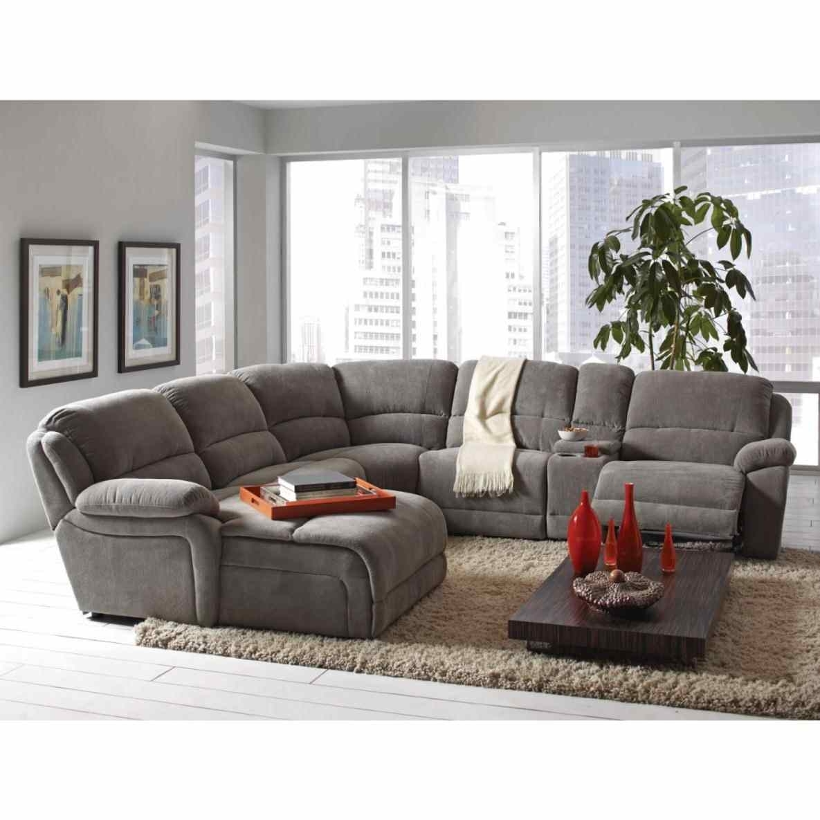Sectional Sofa : Ashley Leather Sectional Armchair With Cup Holder 5 Throughout Jedd Fabric Reclining Sectional Sofas (Image 8 of 10)