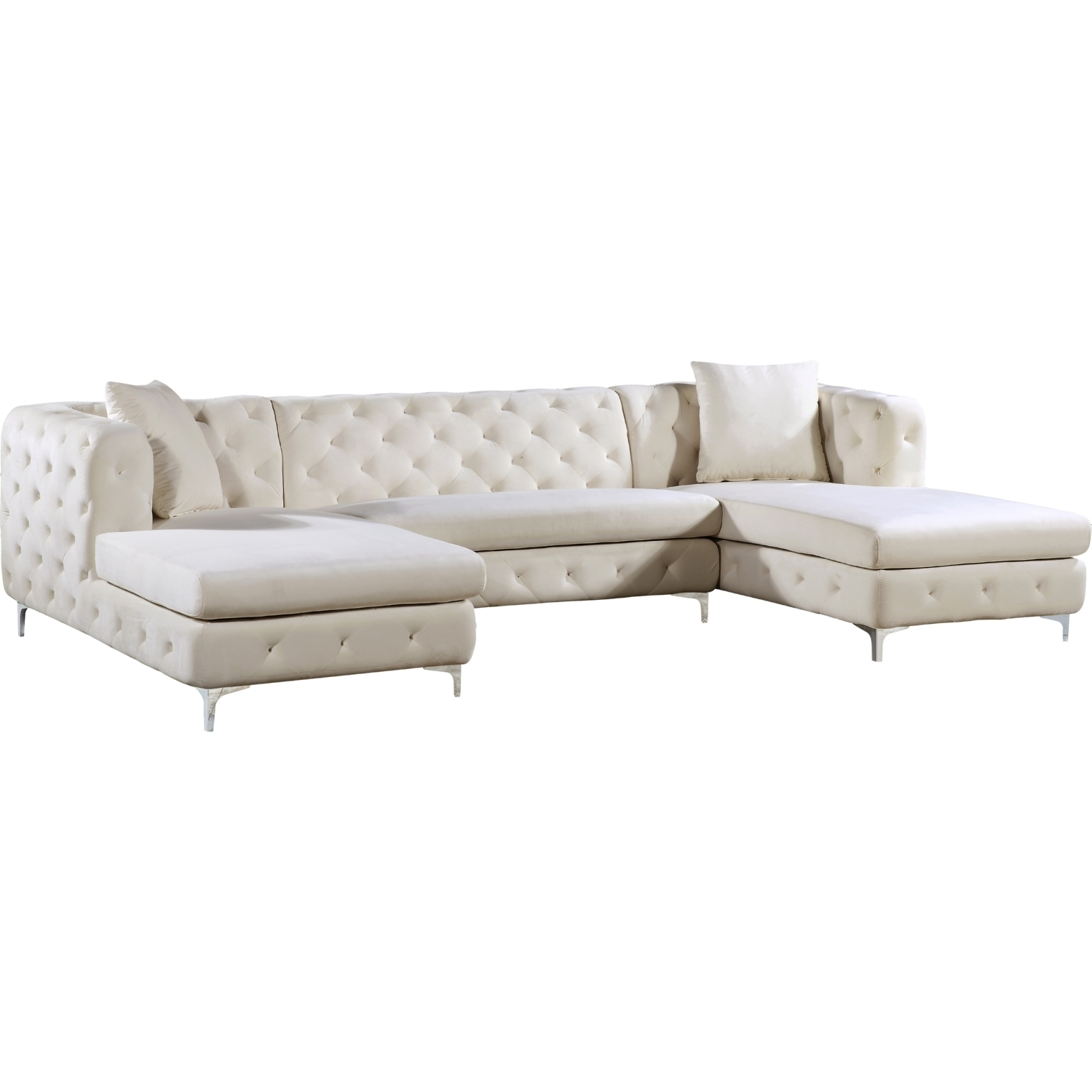2018 Latest Tufted Sectional Sofas With Chaise