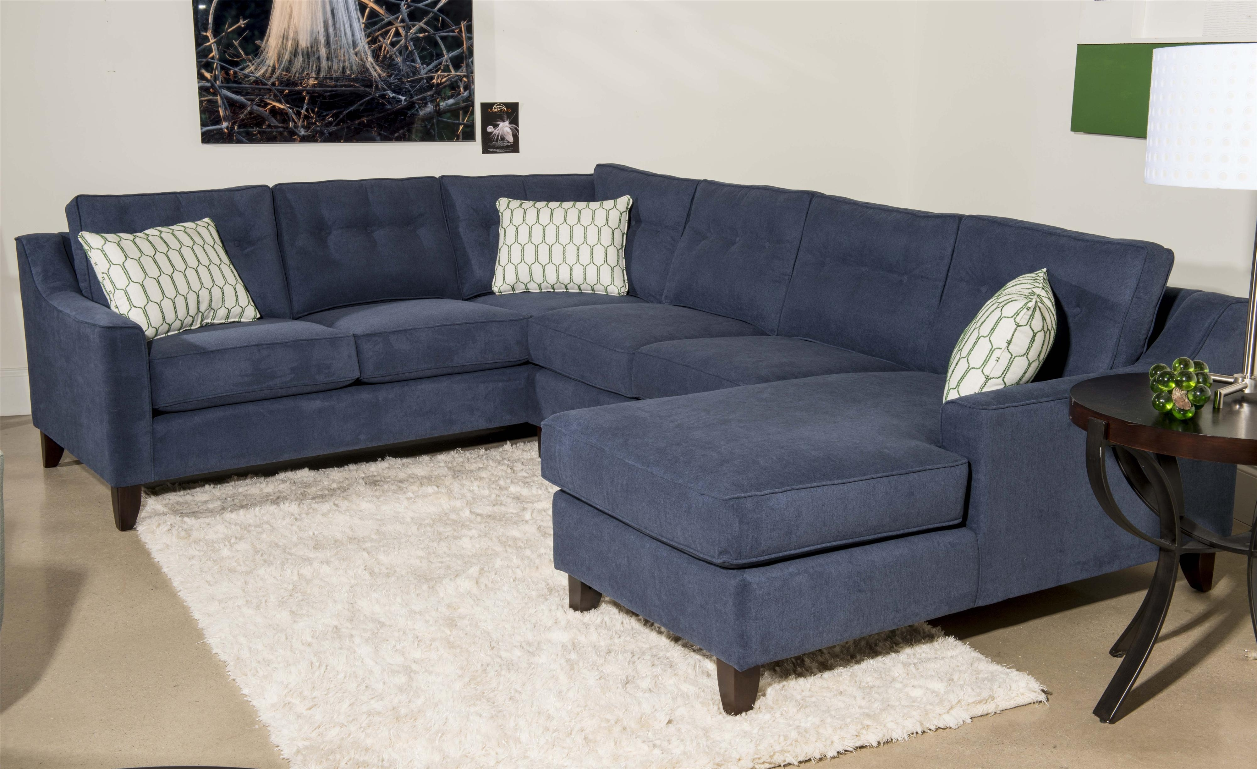Sectional Sofa Design: 3 Pieces Wonderful Sofa With Chaise Multi With Regard To Blue U Shaped Sectionals (View 6 of 10)