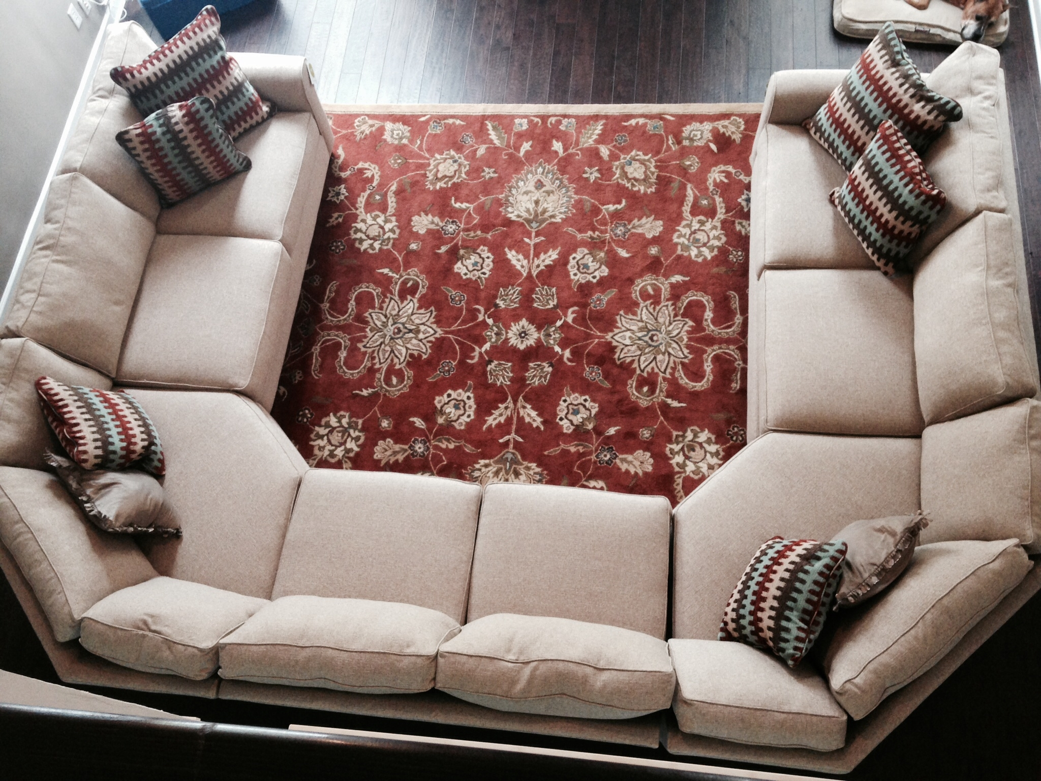 Sectional Sofa Design: Adorable Large U Shaped Sectional Sofa Small Within Big U Shaped Couches (View 5 of 10)