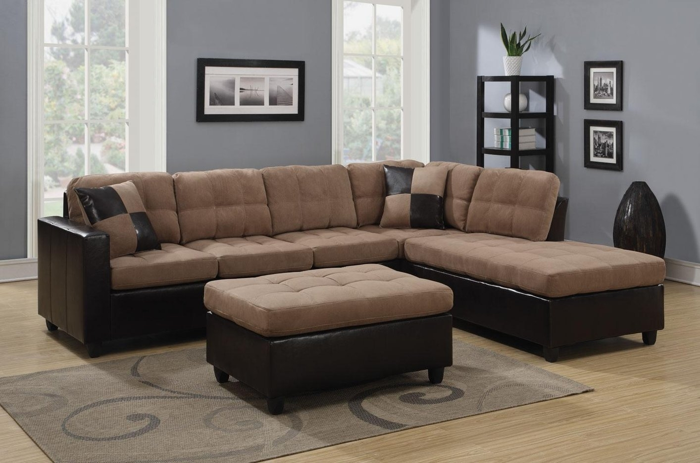 Sectional Sofa Design: Amazing Beige Sectional Sofas Beige Leather Inside Beige Sectional Sofas (Image 10 of 10)