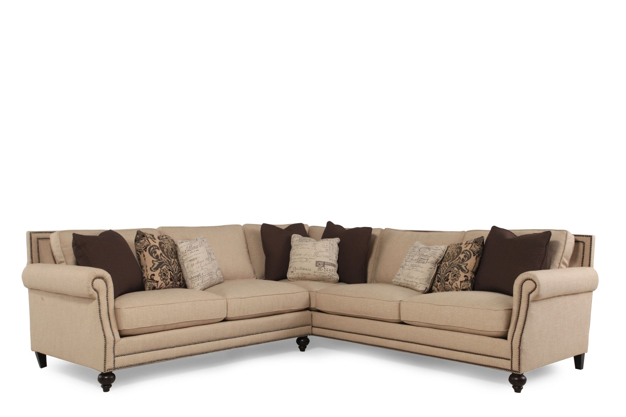 Sectional Sofa Design: Best Selling Bernhardt Sectional Sofa Leather With  Regard To Mathis Brothers Sectional