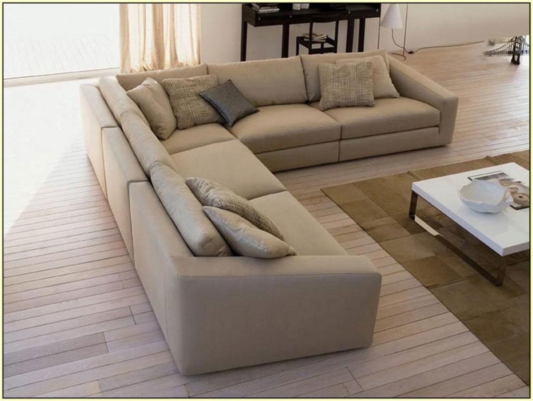 Sectional Sofa Design: Deep Seated Sectional Sofa Small Space Fabric For Deep Seating Sectional Sofas (Image 7 of 10)