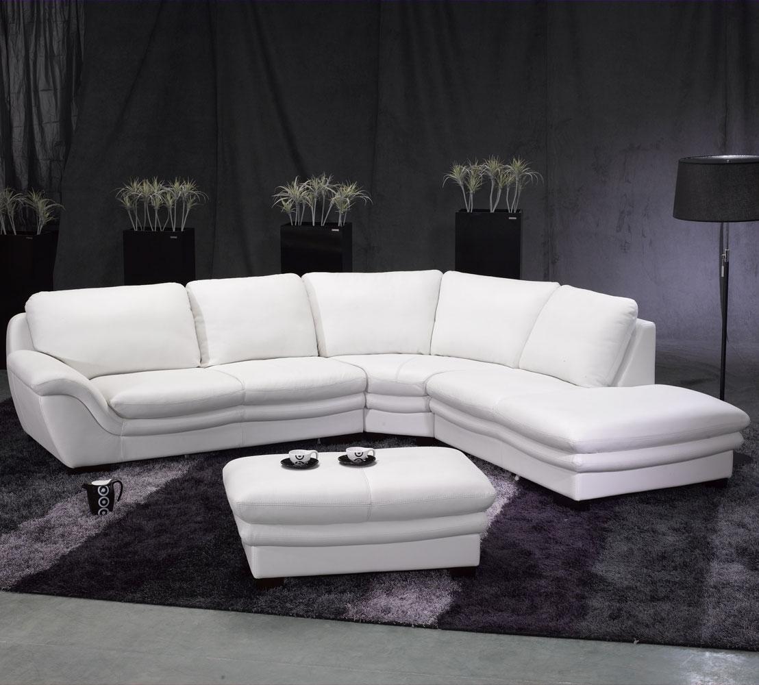 Sectional Sofa Design: Elegant White Leather Sectional Sofa Leather In High End Leather Sectional Sofas (View 10 of 10)
