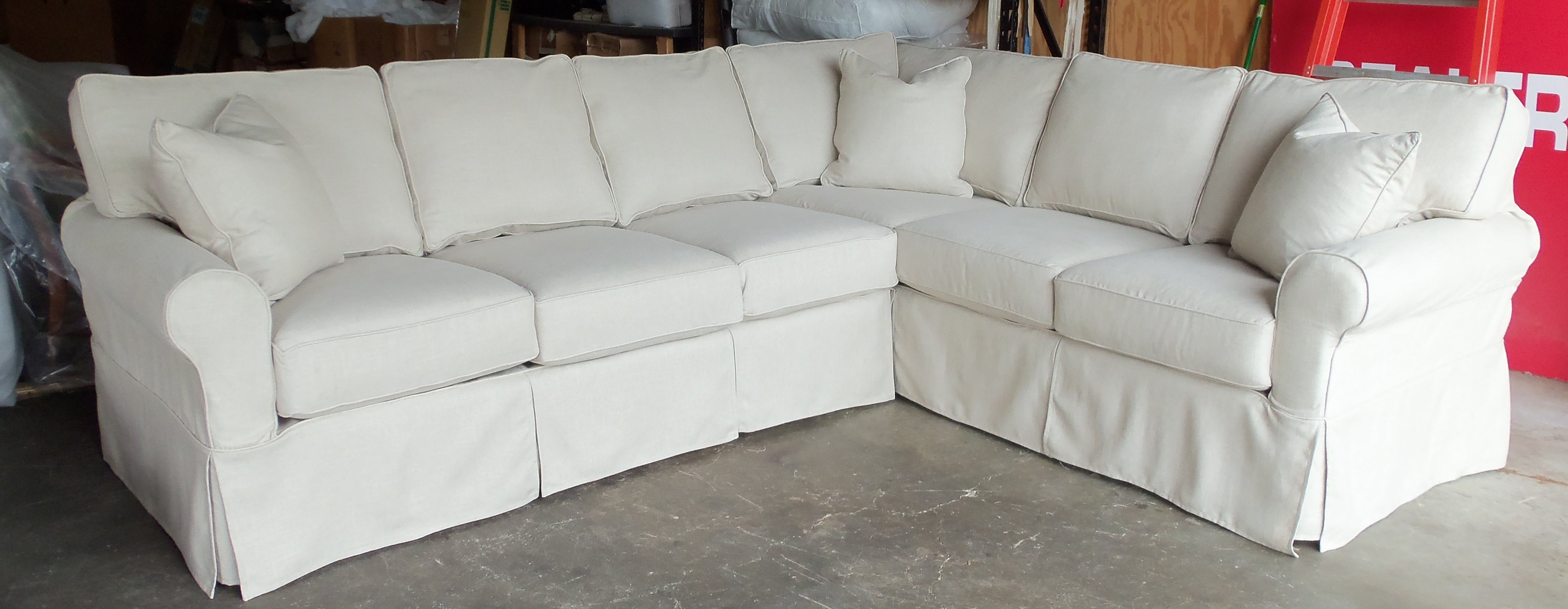 Sectional Sofa Design: Most Comfortable Slipcover Sectional Sofas Regarding Sectional Sofas With Covers (View 2 of 10)