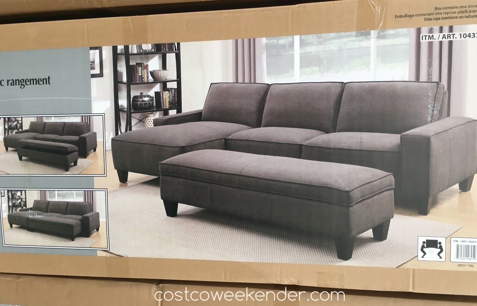 Sectional Sofa Design: Sectional Sofa With Chaise Costco Ikea With Sofas With Chaise And Ottoman (View 9 of 10)