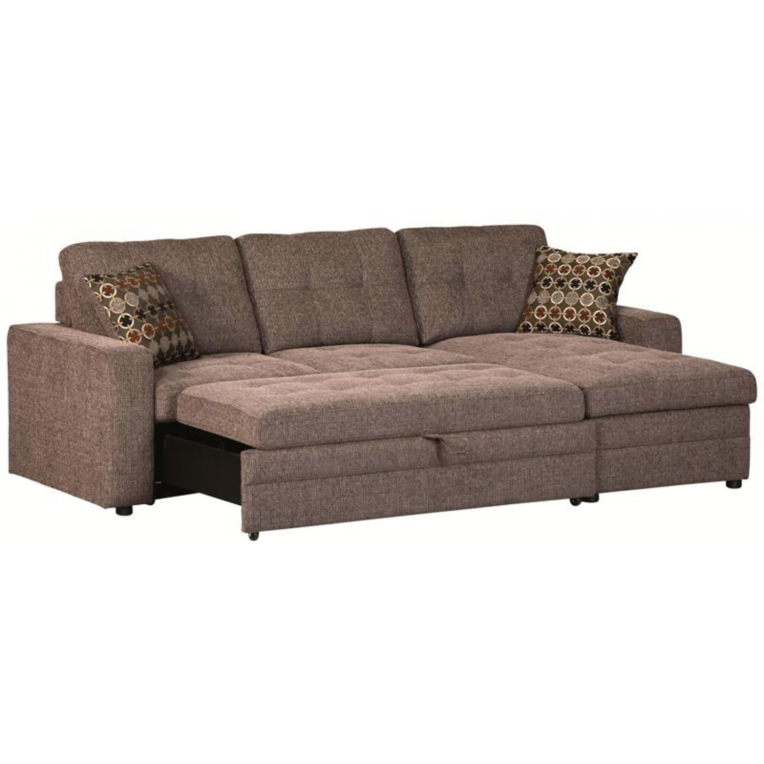 Sectional Sofa Design: Sectional Sofa With Pull Out Bed Recliner Intended For Pull Out Beds Sectional Sofas (Image 9 of 10)