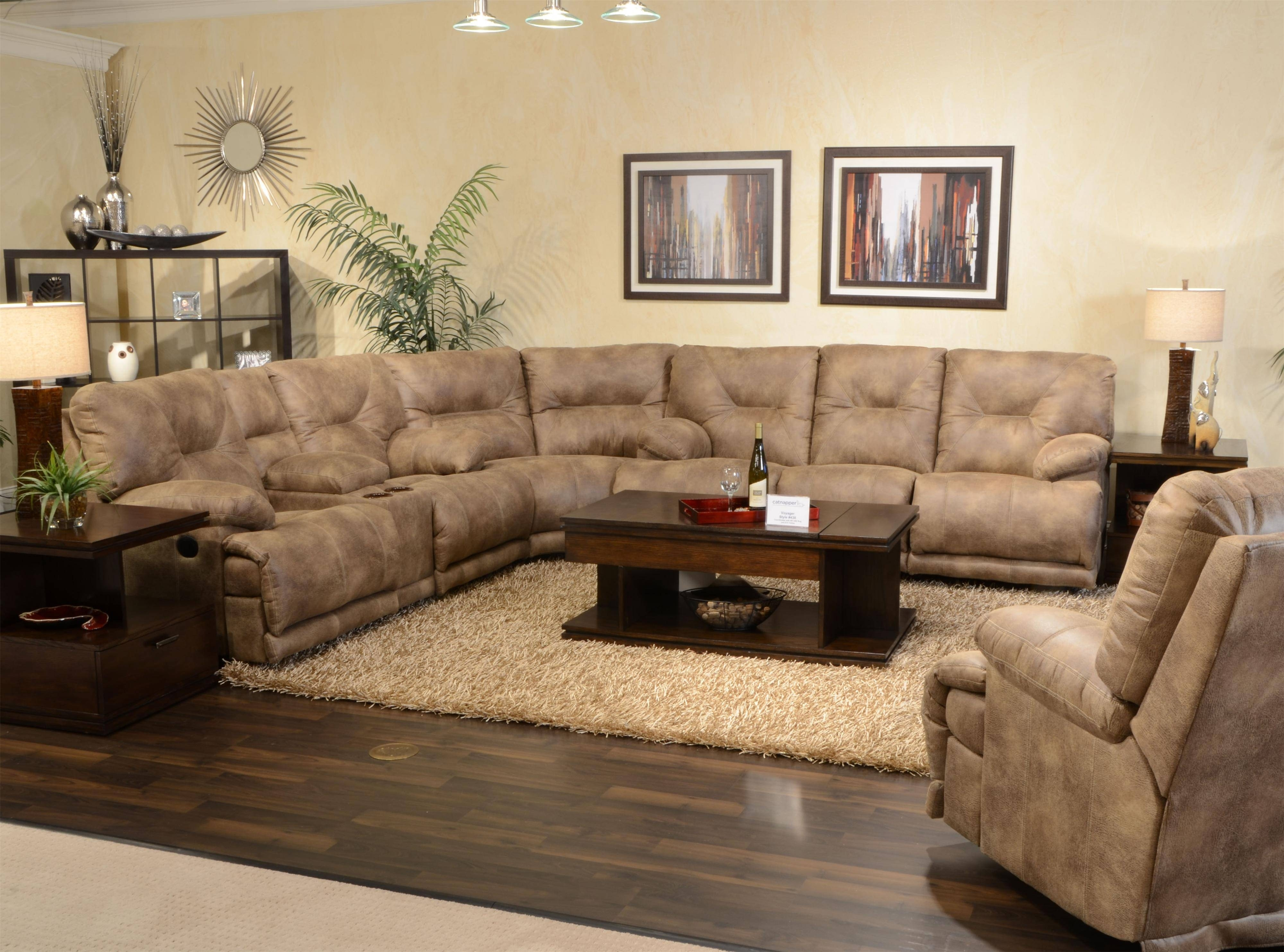 Sectional Sofa Fabric Living Room Image Grey Microfiber Choices In Jedd Fabric Reclining Sectional Sofas (View 9 of 10)