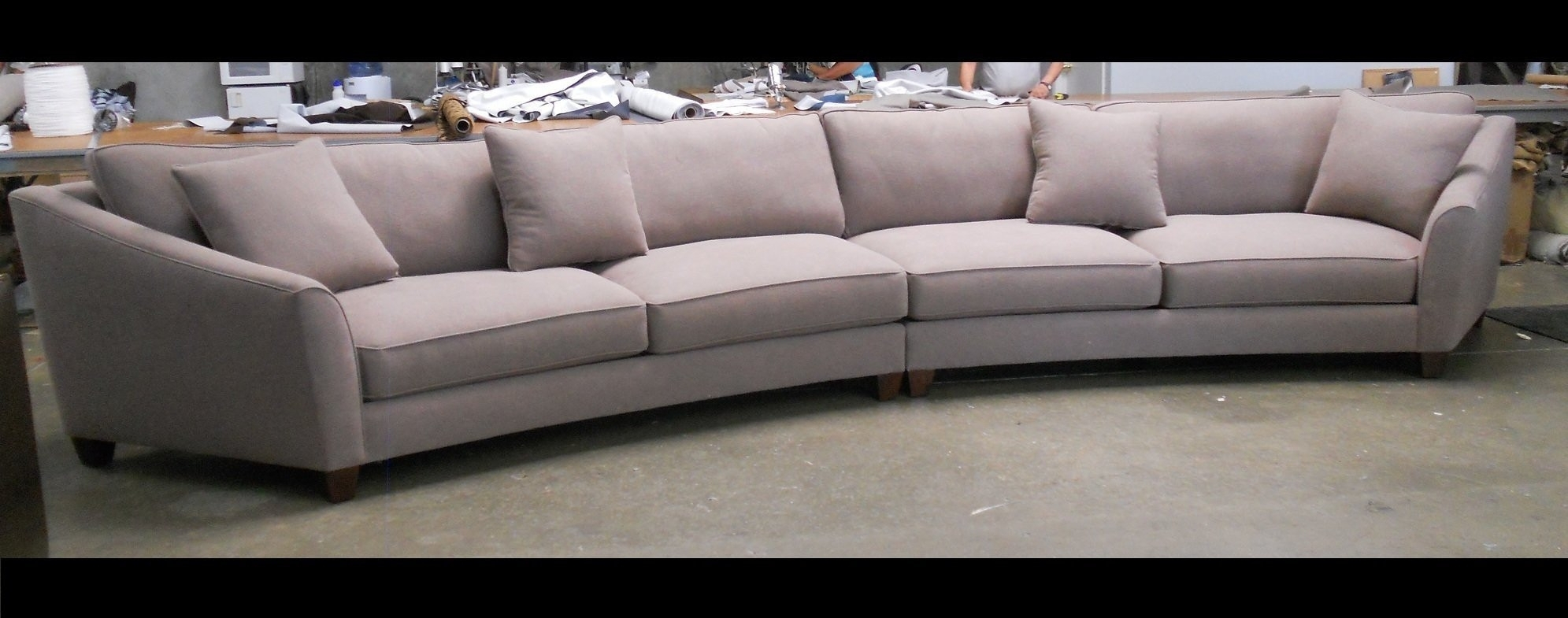 Sectional Sofa : Grey Curved Sectional Semi Circle Couches For Sale Intended For Round Sectional Sofas (Image 9 of 10)