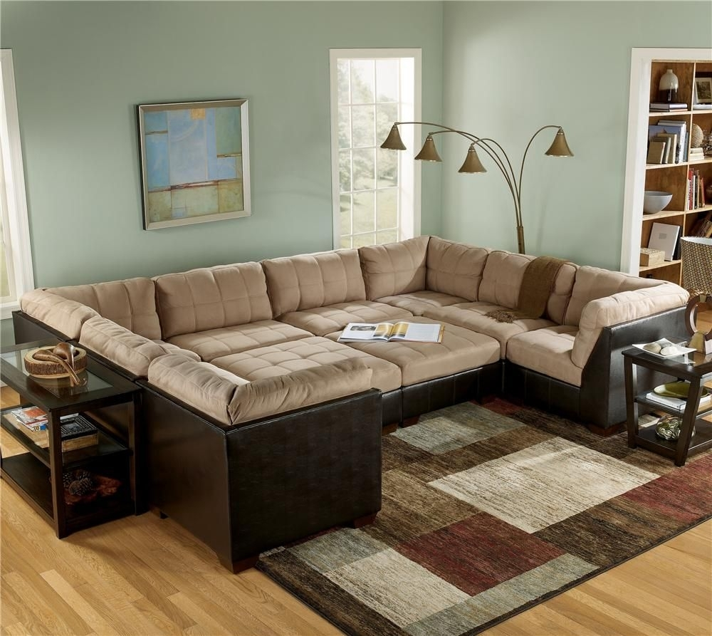 Sectional Sofa Group With Ottomans And Faux Leather Lodi, Stockton Throughout Leather Sectionals With Ottoman (View 9 of 10)