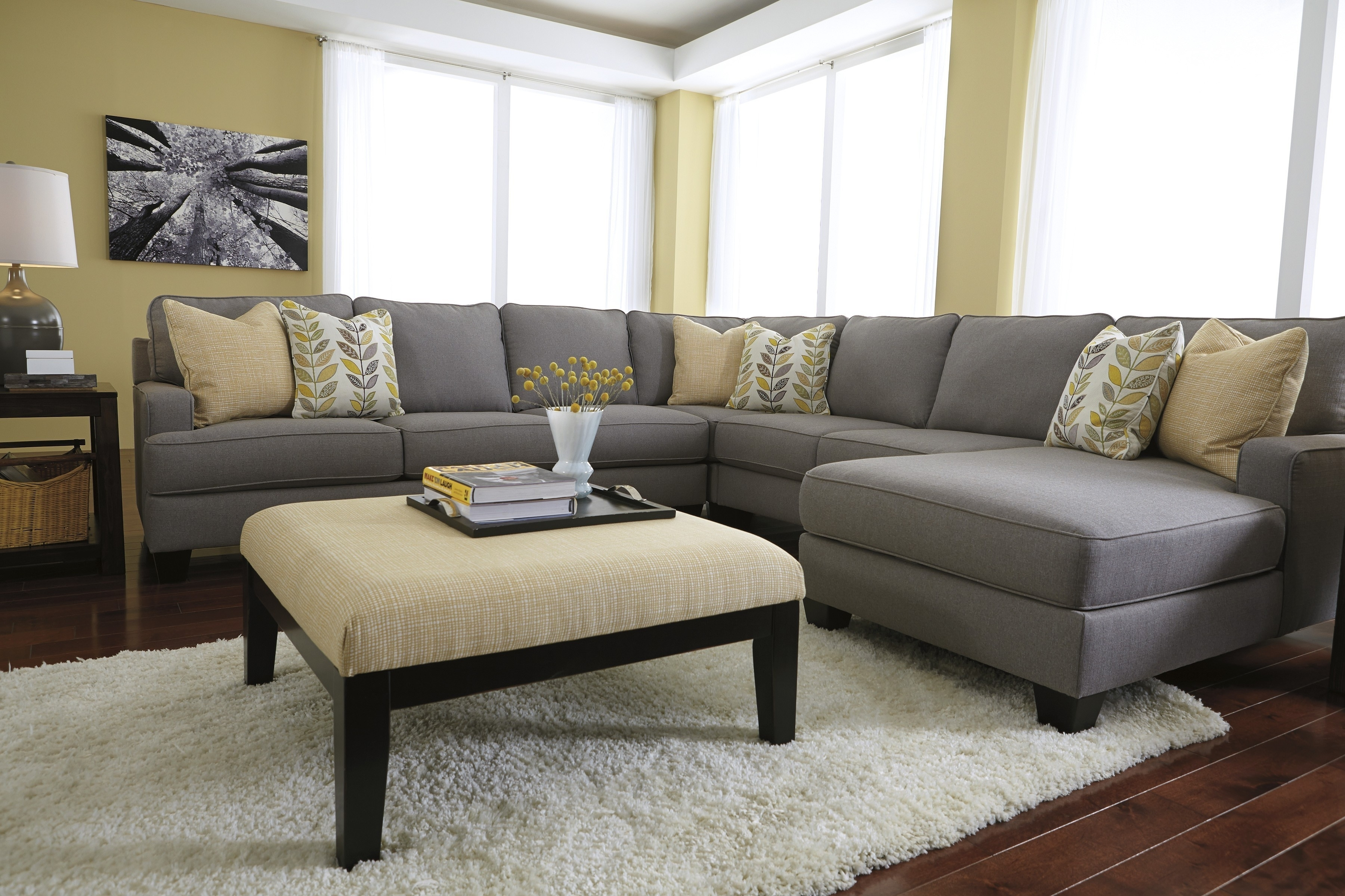 Sectional Sofa : Sectional With Oversized Ottoman Loveseat Sectional Pertaining To Sectional Sofas With Oversized Ottoman (View 7 of 10)