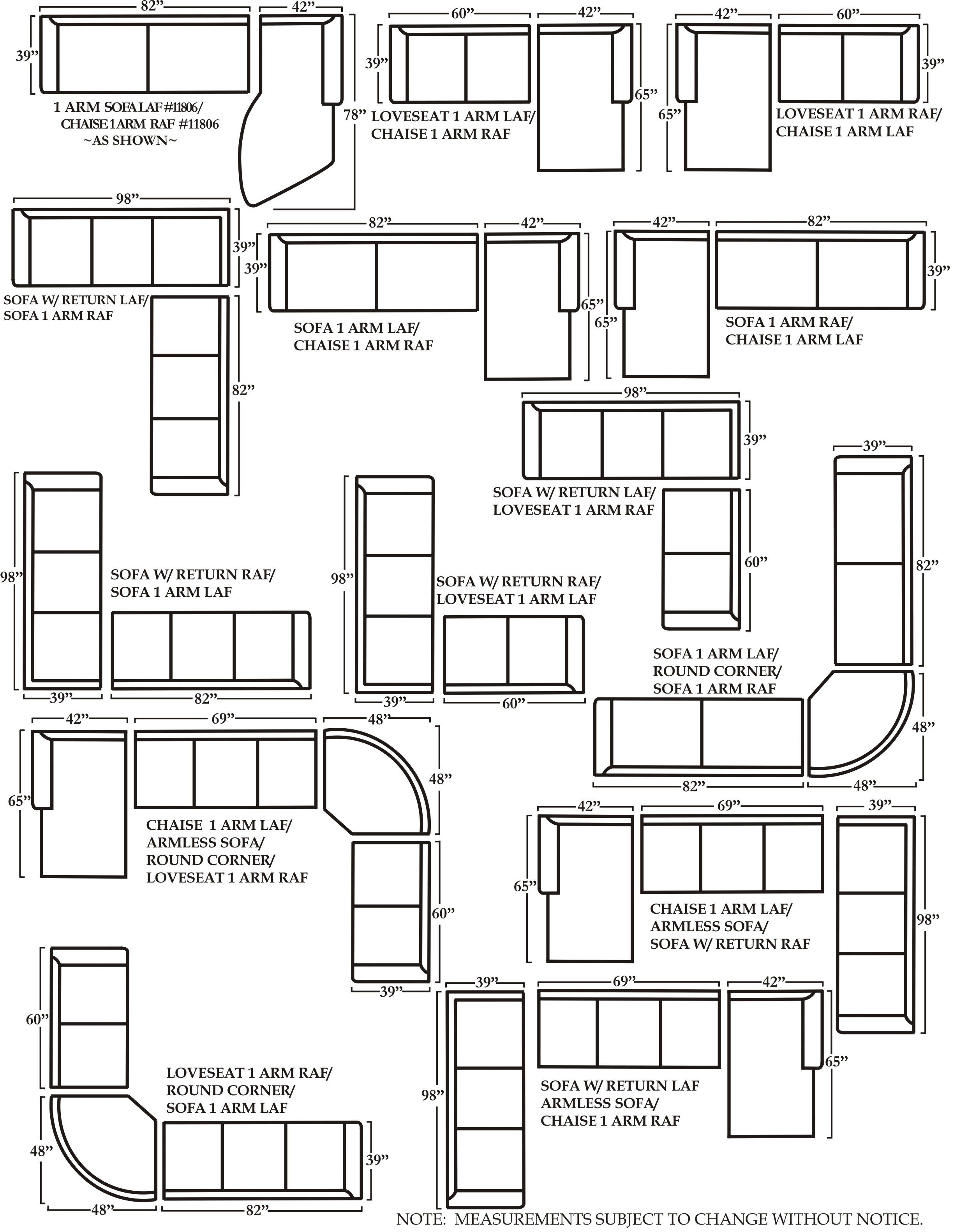 Sectional Sofa Sizes 48 D Sofa And Sectional Sizes Sofa Condo Sofa Throughout Measurements Sectional Sofas (Image 9 of 10)