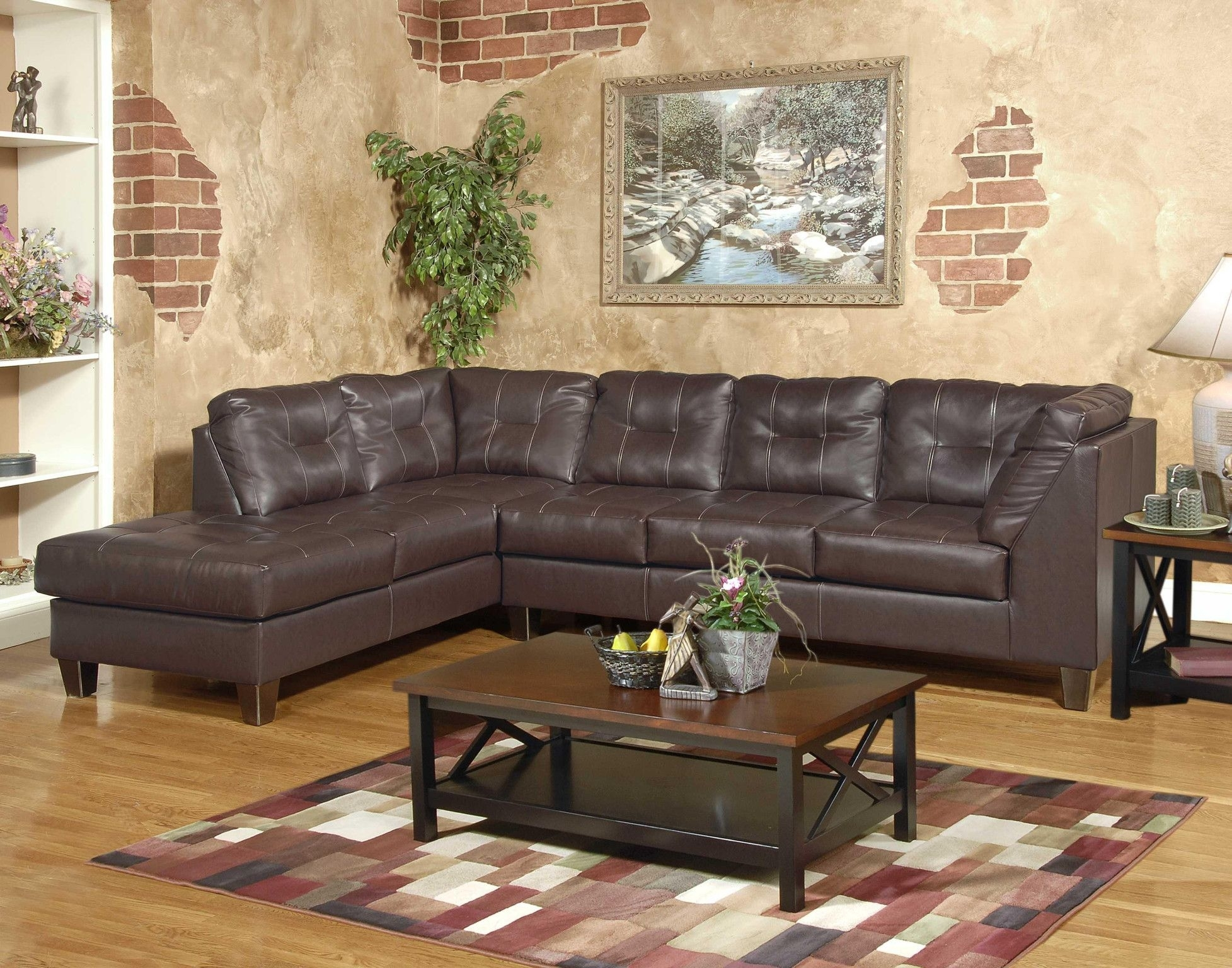 Sectional Sofa W/chaise Shown In San Marino Chocolate Also Available Intended For Sectional Sofas In Greensboro Nc (Image 10 of 10)