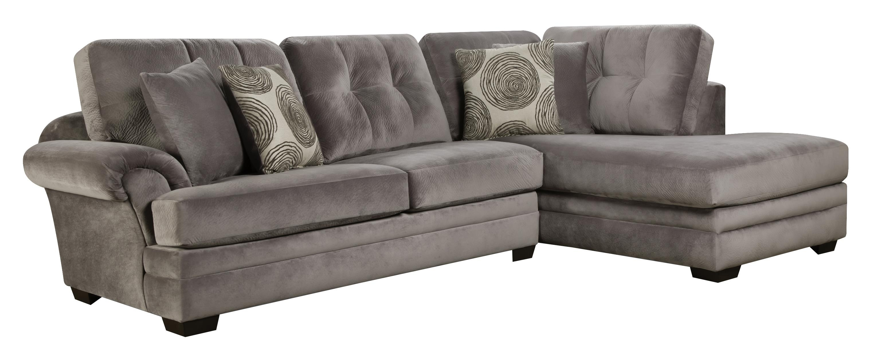 Sectional Sofa With Chaise (On Right Side)Corinthian | Wolf And In Gardiners Sectional Sofas (Image 7 of 10)