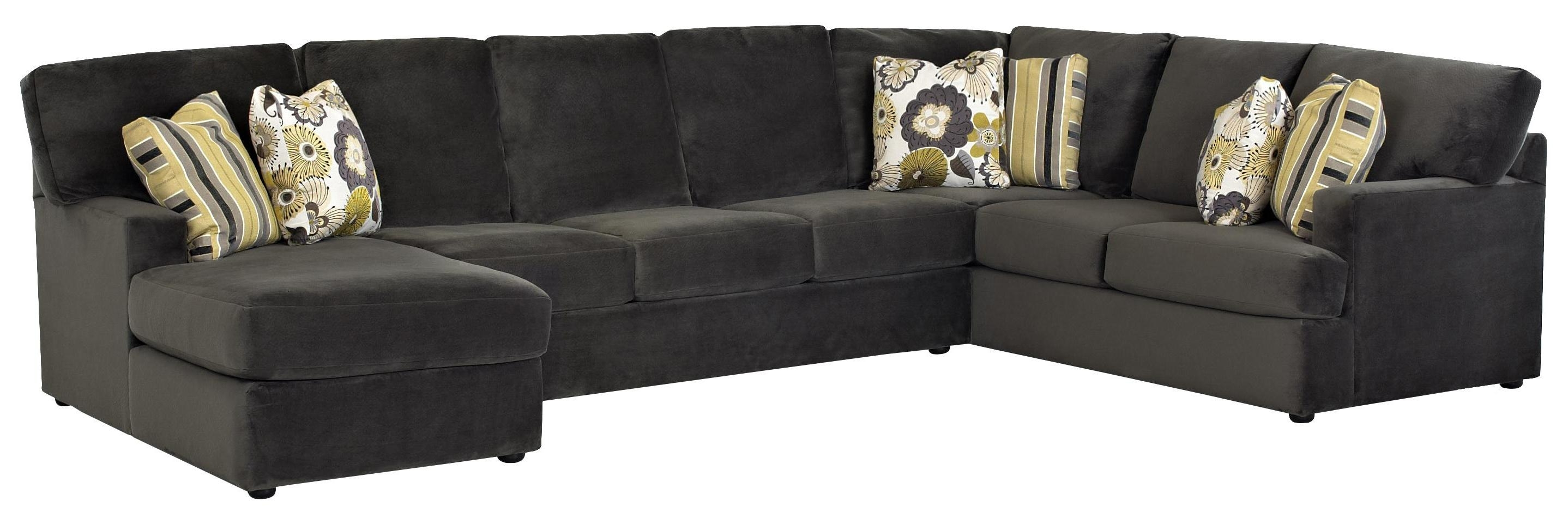 Sectional Sofa With Left Side Chaiseklaussner | Wolf And With Gardiners Sectional Sofas (Image 8 of 10)