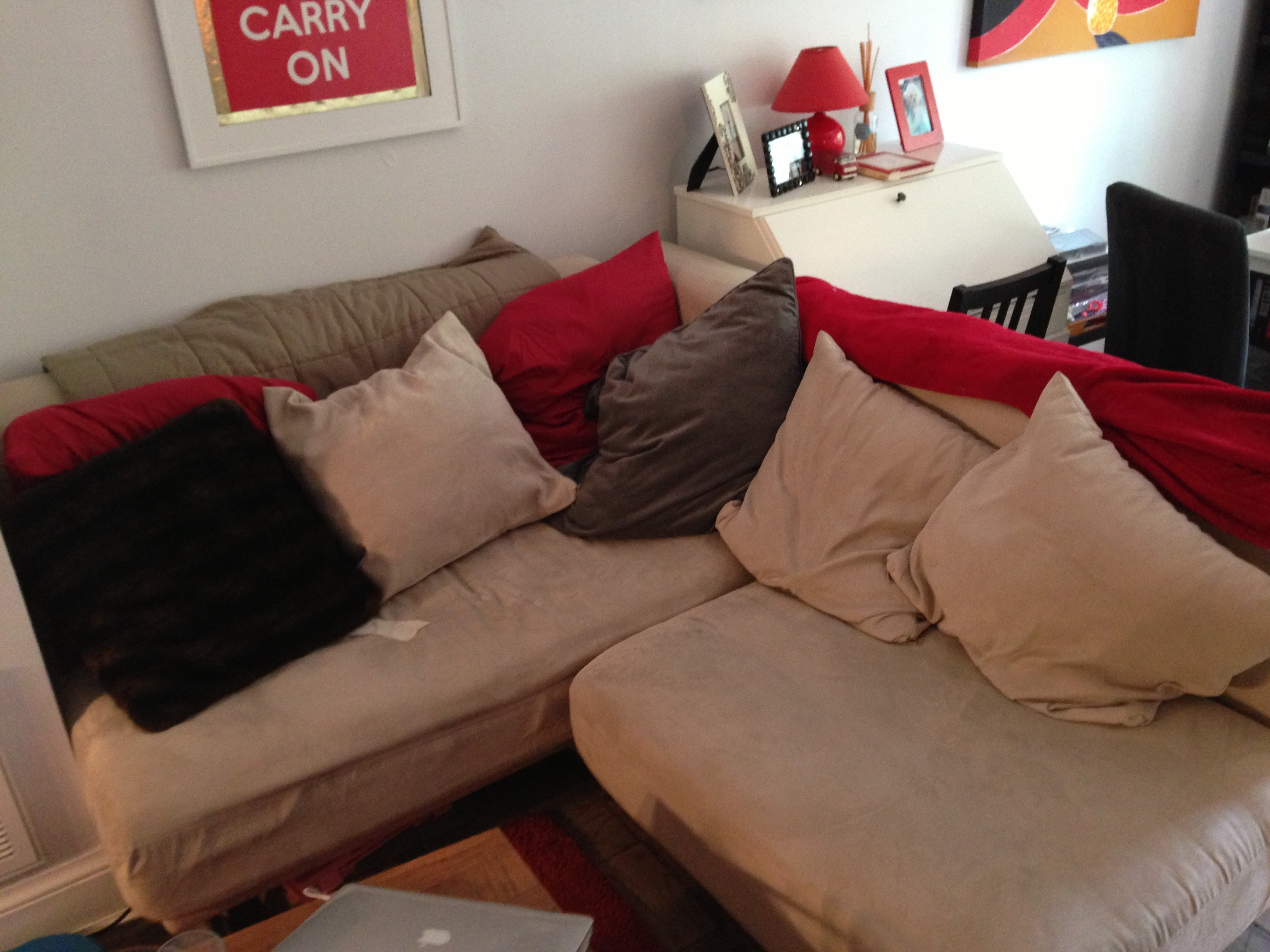 Sectional Sofa With Ottoman – $100 | Gently Used Furniture For Sale With Regard To Used Sectional Sofas (Image 4 of 10)