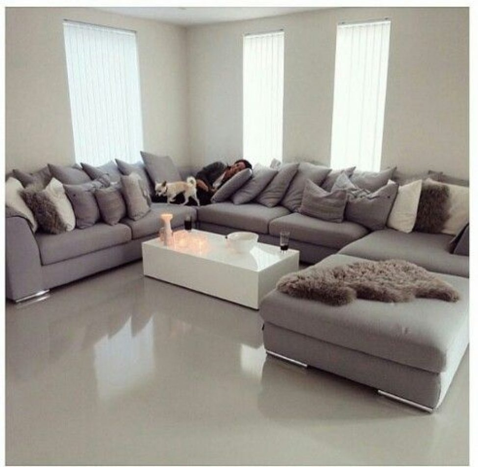 Large U Sectional Sofas: 10 Best Collection Of Large U Shaped Sectionals