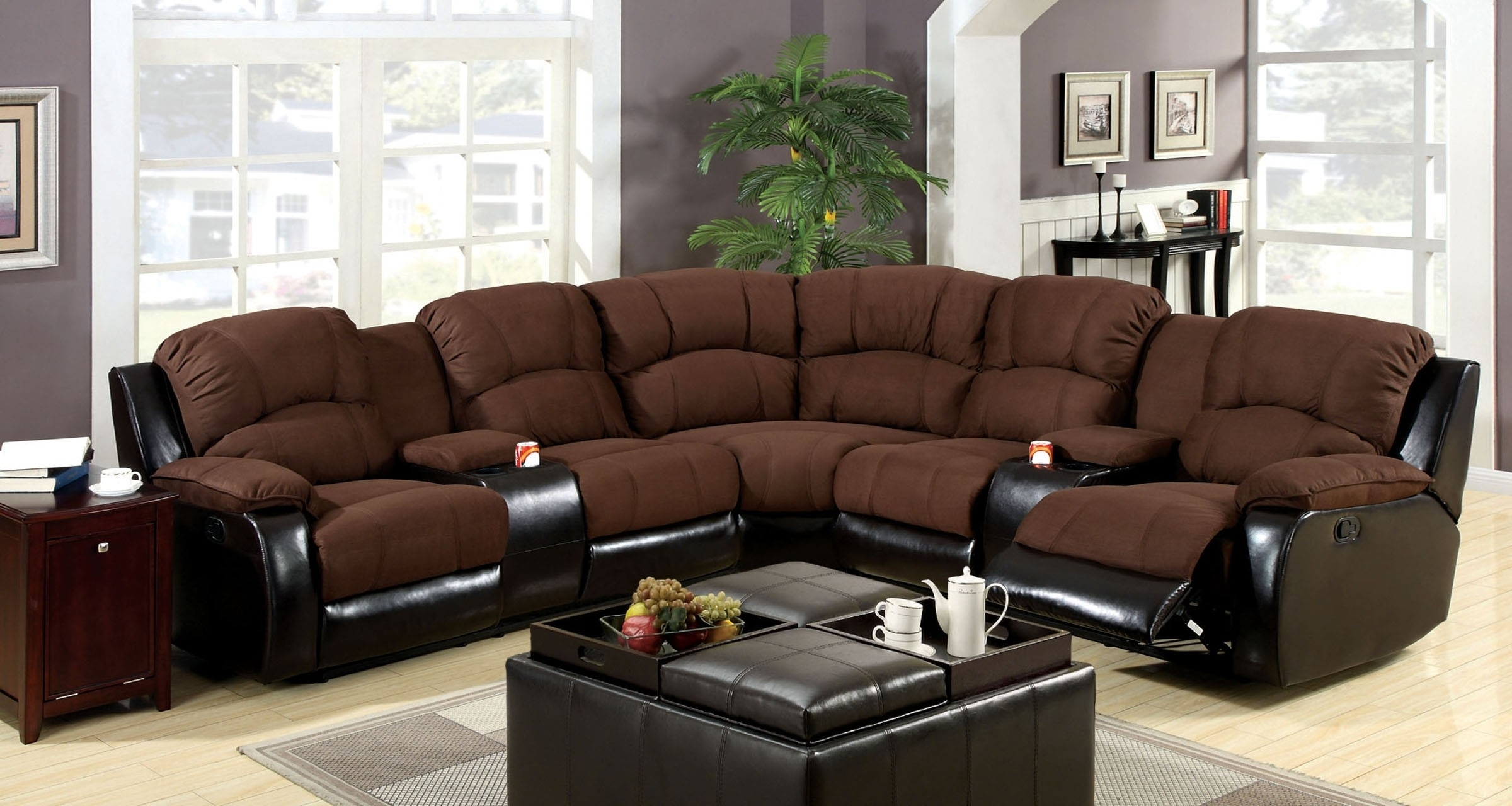 Sectional Sofas With Recliners And Cup Holders | Jannamo Within Sectional Sofas With Cup Holders (Image 8 of 10)