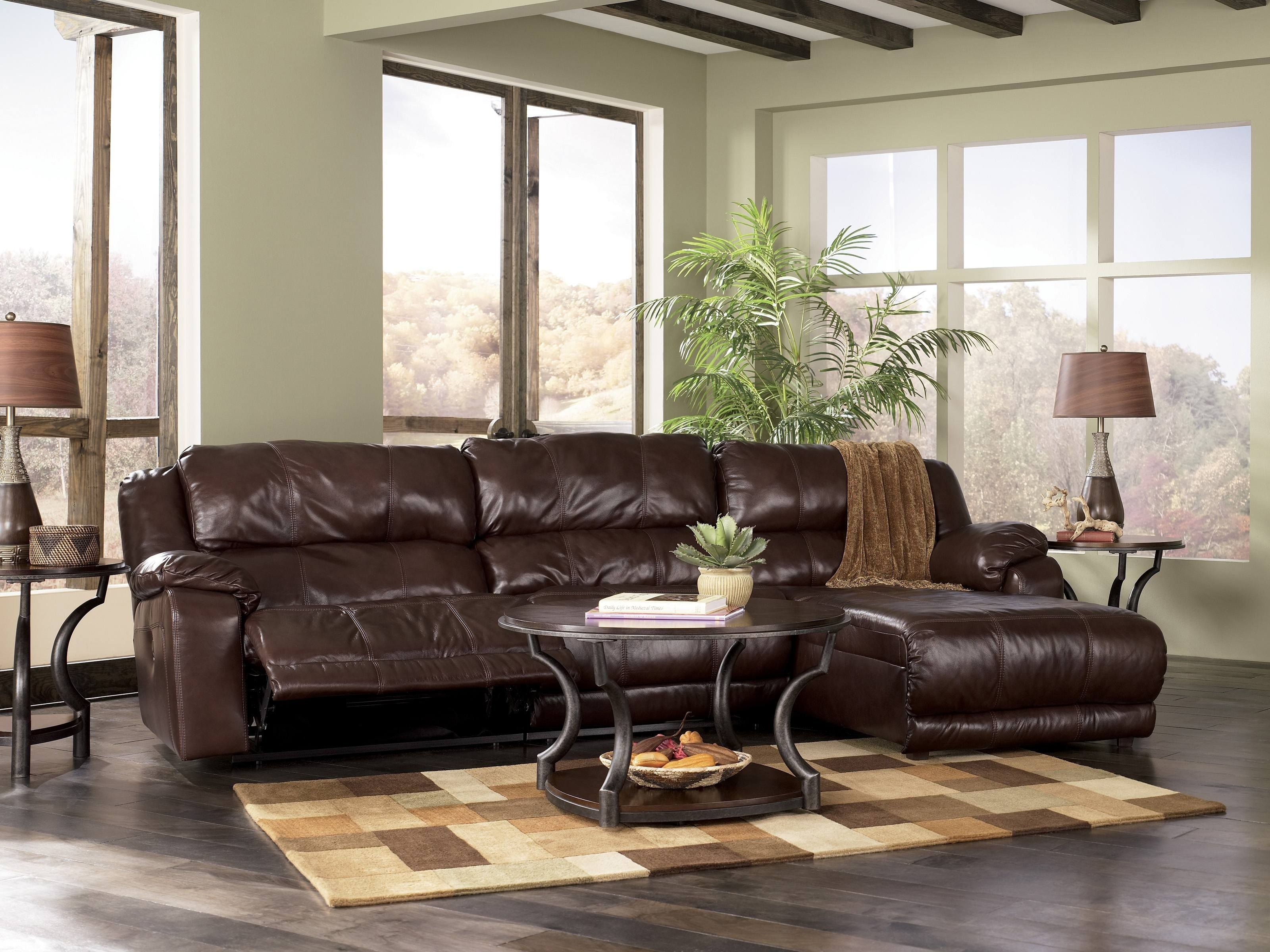 Sectional Sofas With Recliners   Johnson Leather Sofa With Recliner For Knoxville Tn Sectional Sofas (Image 10 of 10)