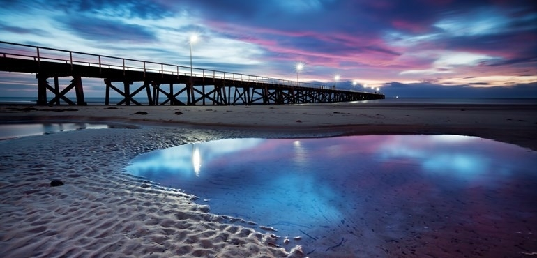 Semaphore Beach And Jetty Printed Canvas Wall Art Eluxury Home Pertaining To Jetty Canvas Wall Art (View 12 of 15)