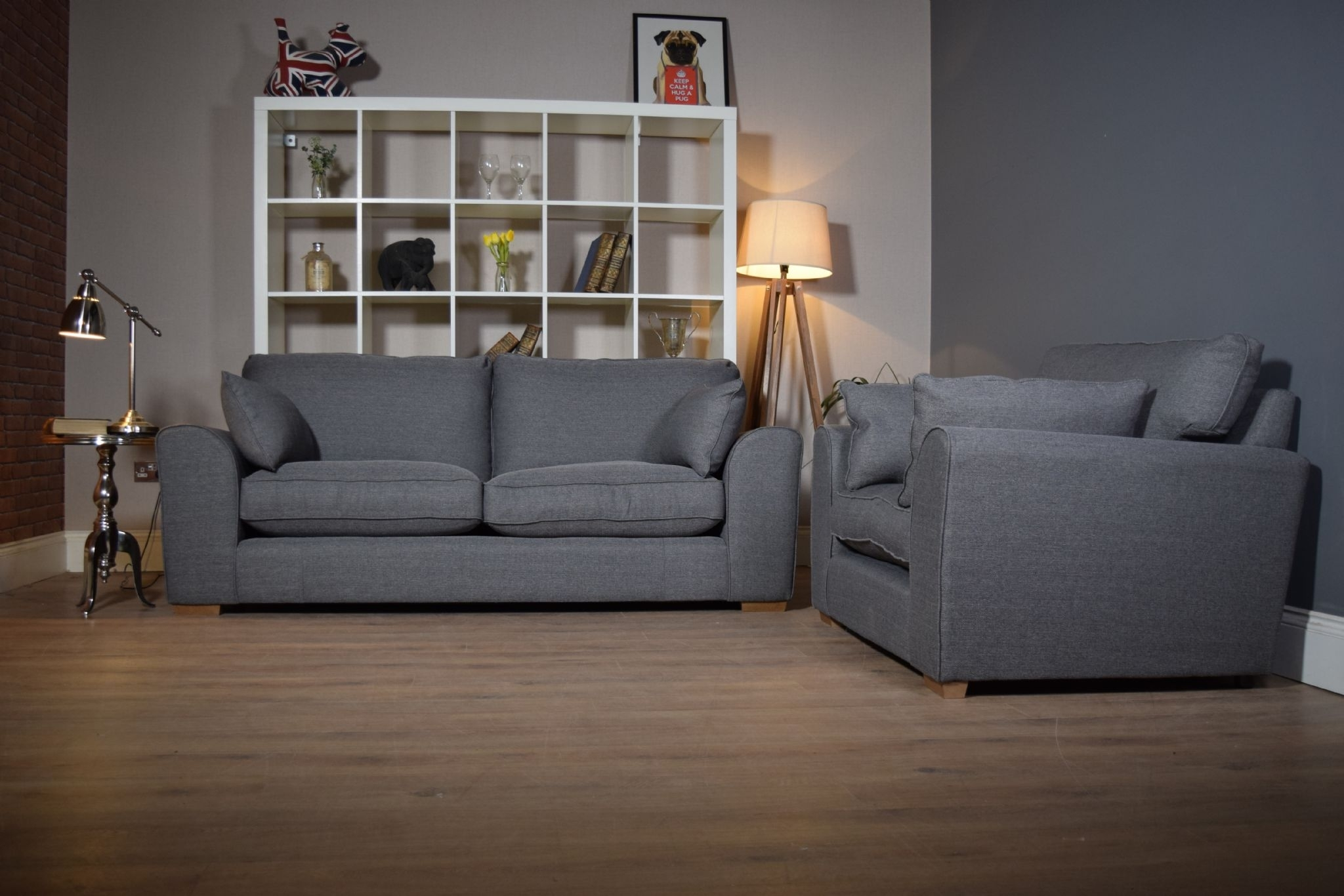 Set Ashdown 3 Seater Sofa & Cuddle Chair Set – Grey – Out Of Stock With 3 Seater Sofas And Cuddle Chairs (View 5 of 10)