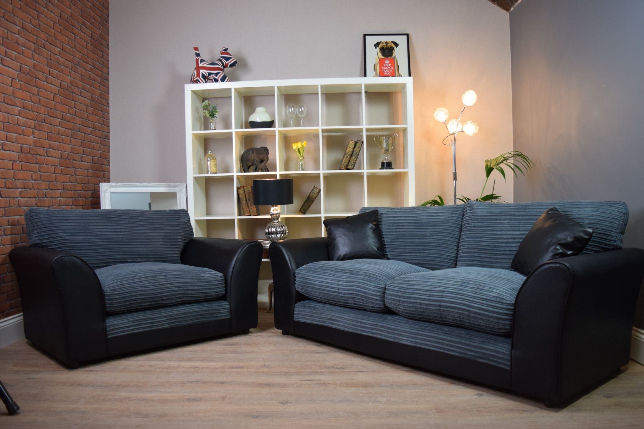 Set Harley Bailey 3 Seater Sofa Cuddle Chair Suite Set – Black Bison Throughout 3 Seater Sofas And Cuddle Chairs (View 2 of 10)