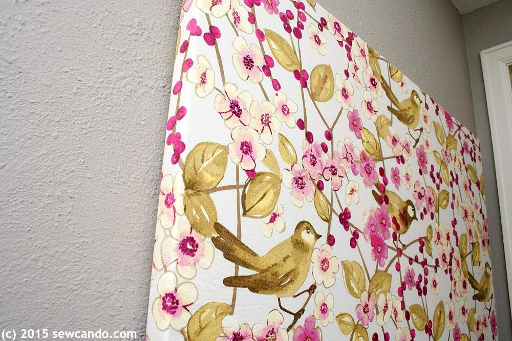 Sew Can Do: Tutorial Time: Faux Painting Wall Art Using Fabric Throughout Fabric Painting Wall Art (Image 12 of 15)