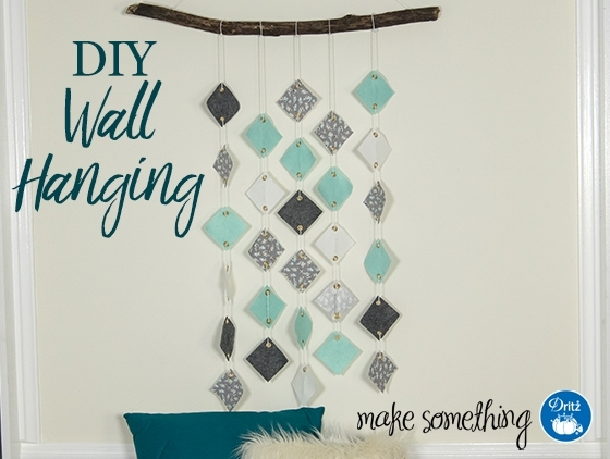 Sew Project: Diy Fabric Mobile Inside No Sew Fabric Wall Art (Image 10 of 15)