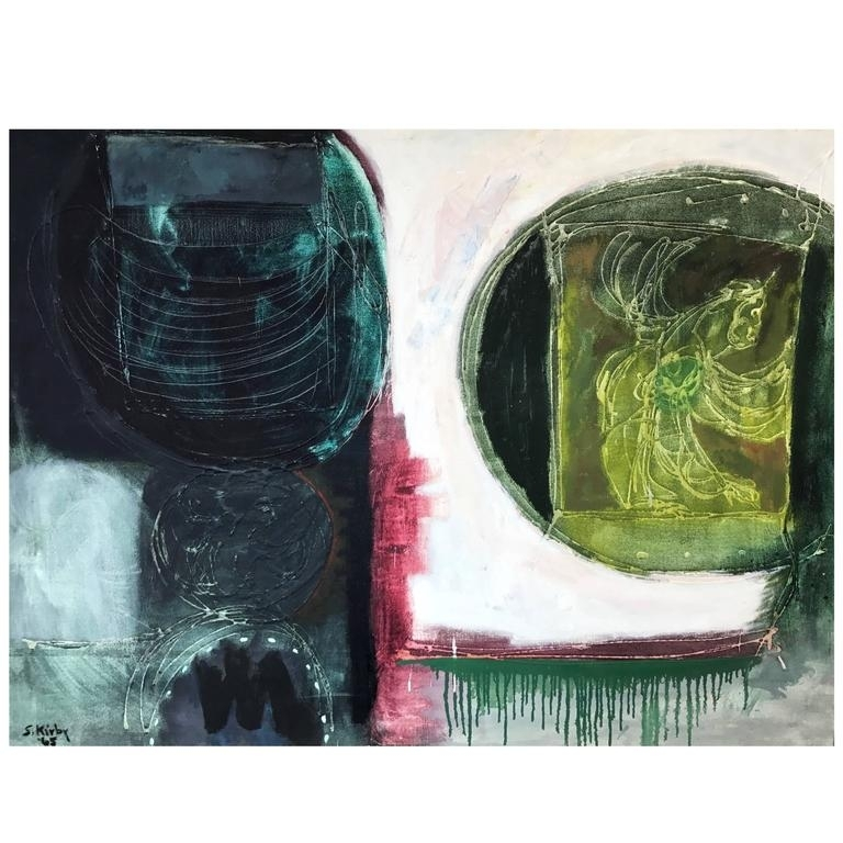 "Sheldon Kirby ""Talisman X"" Abstract Oil Painting For Sale At 1Stdibs Intended For Kirby Abstract Wall Art (View 3 of 15)"