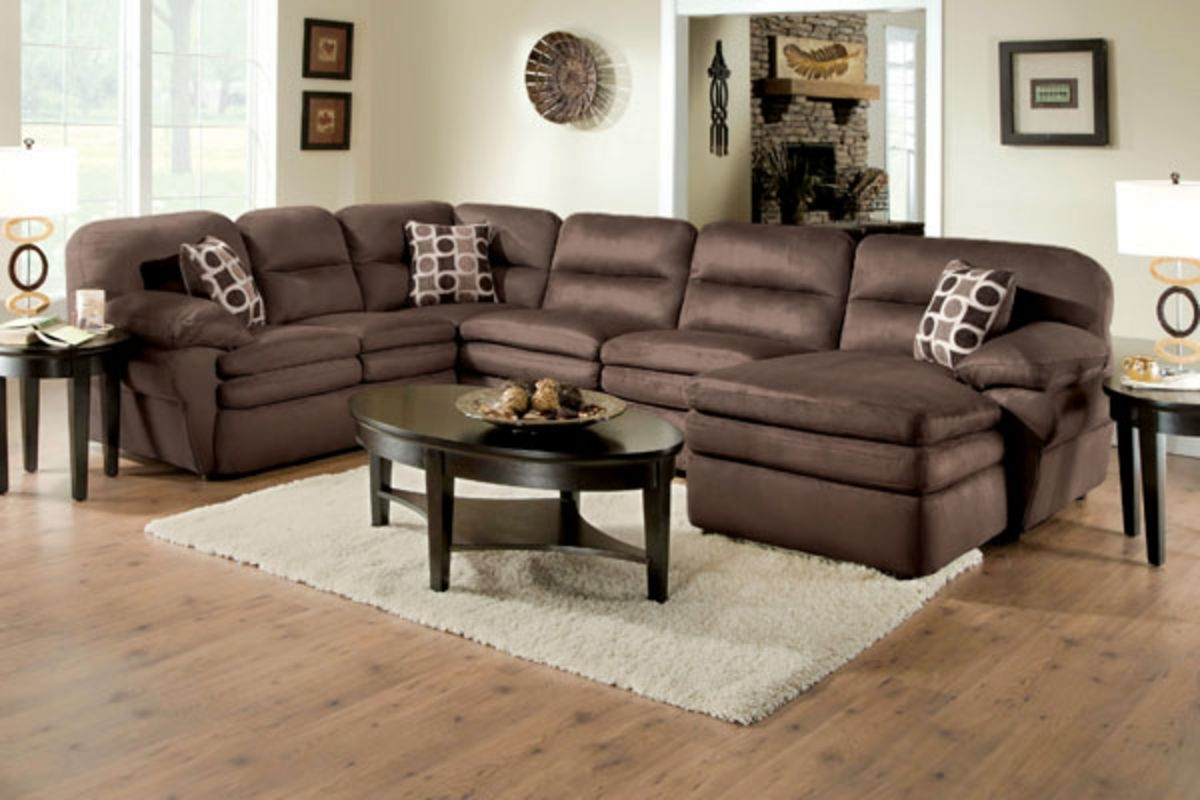 Shiloh 3 Piece Microfiber Sectional At Gardner White Regarding Gardner White Sectional Sofas (Image 9 of 10)