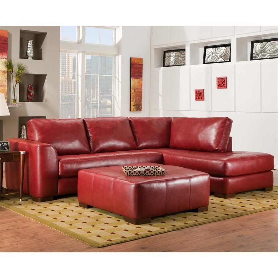 Featured Photo of Red Faux Leather Sectionals