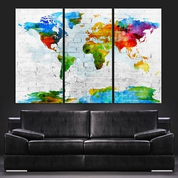 Shop Colorful Abstract Wall Art On Wanelo With Rainbow Canvas Wall Art (View 3 of 15)
