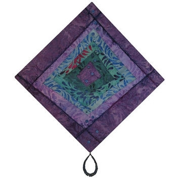 Shop Fiber Art Quilt Wall Hangings On Wanelo Within Purple Fabric Wall Art (Image 12 of 15)
