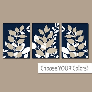 Shop Foliage Wall Art On Wanelo For Navy Canvas Wall Art (Image 13 of 15)