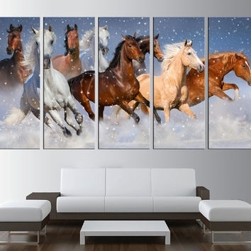 Shop Horse Canvas Art Prints On Wanelo Inside Horses Canvas Wall Art (Image 11 of 15)