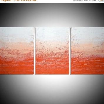 Shop Large Orange Abstract Canvas Art On Wanelo Regarding Abstract Orange Wall Art (View 4 of 15)