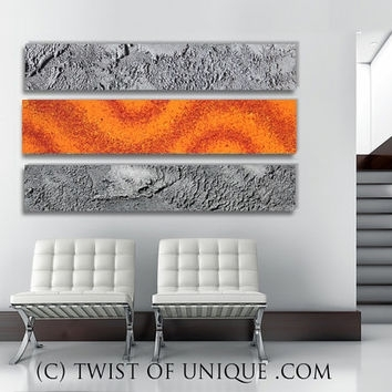 Shop Metallic Silver Paint For Walls On Wanelo Pertaining To Abstract Orange Wall Art (View 13 of 15)