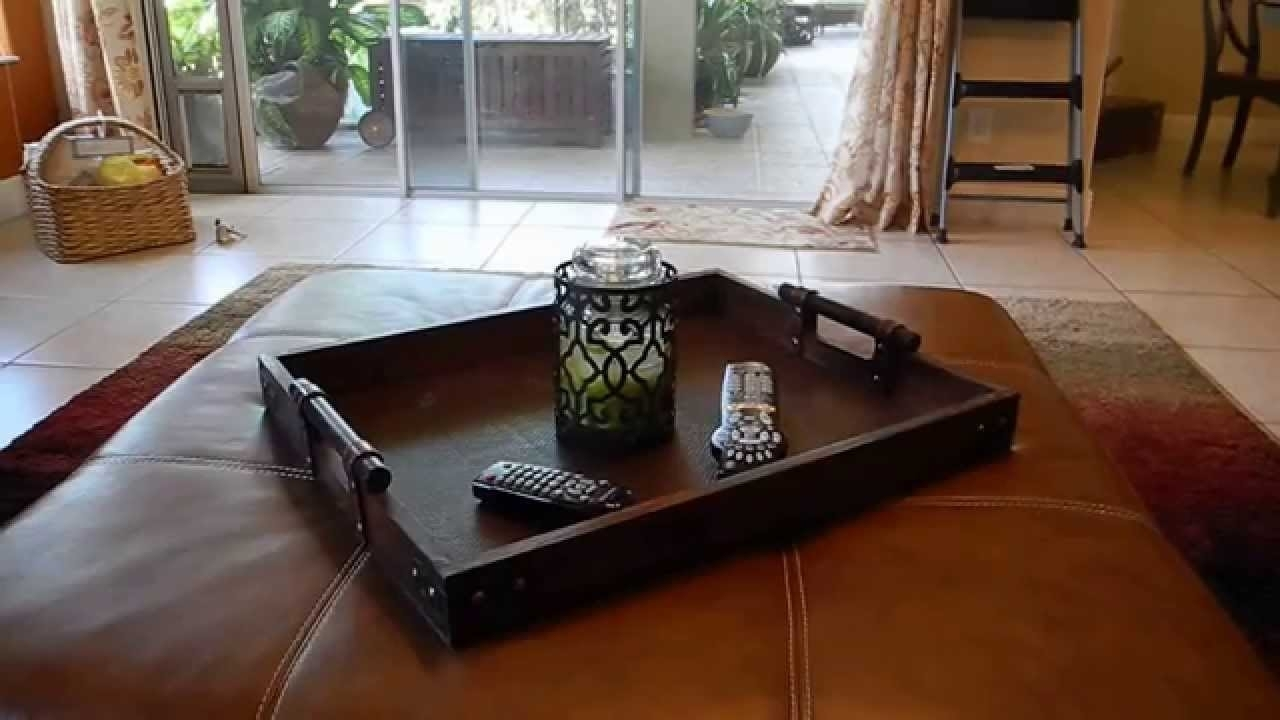 Shop My Home: Restyled Ottoman Tray – Youtube Throughout Ottomans With Tray (Image 6 of 10)