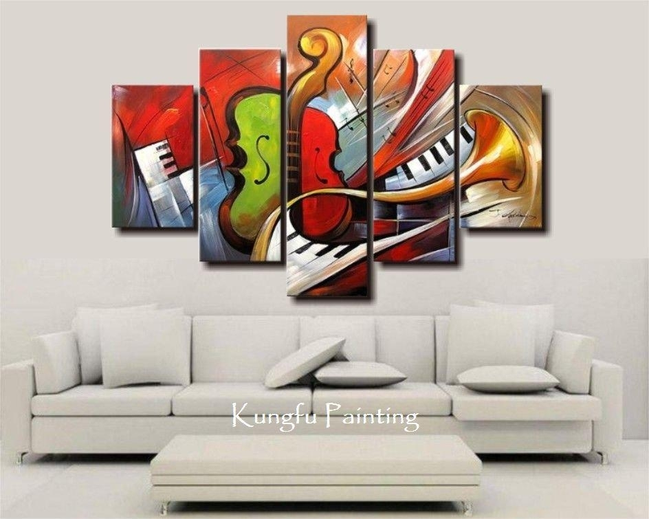 Shop Paintings Online, Holiday Sale 100% Hand Painted Discount Intended For Abstract Music Wall Art (Image 14 of 15)