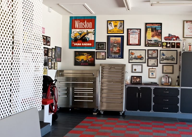 Show Pictures Of Your Banners, Wall Decorations – The Garage With Regard To Garage Wall Accents (View 8 of 15)